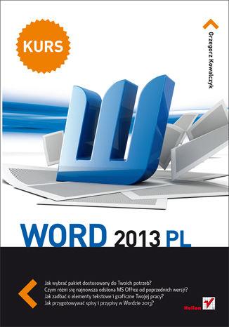 Okładka książki/ebooka Word 2013 PL. Kurs
