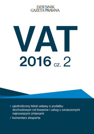 Okładka książki/ebooka VAT 2016 cz. 2