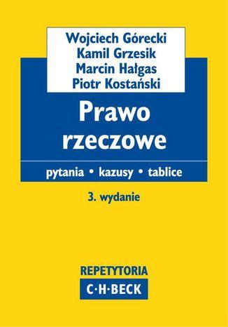 Okładka książki/ebooka Prawo rzeczowe Pytania. Kazusy. Tablice