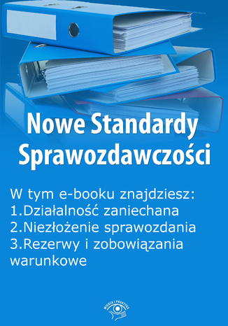 Okładka książki/ebooka Nowe Standardy Sprawozdawczości , wydanie lipiec 2015 r. część I