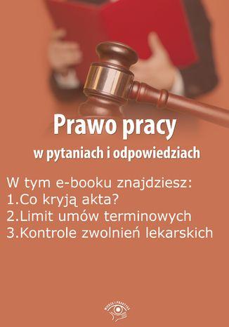 Okładka książki/ebooka Prawo pracy w pytaniach i odpowiedziach, wydanie wrzesień-październik 2015 r