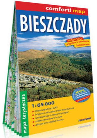 Okładka książki/ebooka Bieszczady laminowana mapa turystyczna 1:65 000