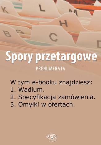 Okładka książki/ebooka Spory przetargowe, wydanie czerwiec 2014 r