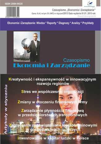 Okładka książki Czasopismo Ekonomia i Zarządzanie nr 1 sty/2013