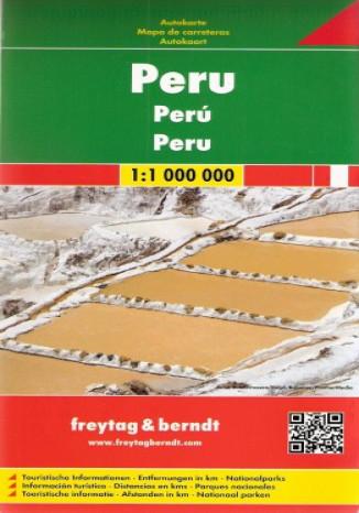Okładka książki Peru. Mapa  Freytag & Berndt 1:1 000 000