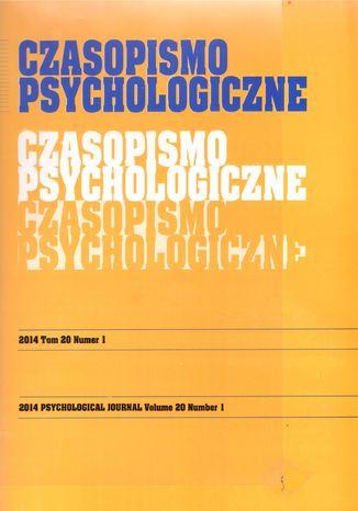 Okładka książki/ebooka Czasopismo Psychologiczne Psychological Journal Tom 20 numer 1