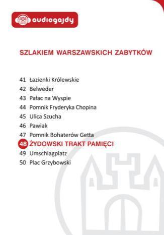 Okładka książki/ebooka Żydowski Trakt Pamięci. Szlakiem warszawskich zabytków