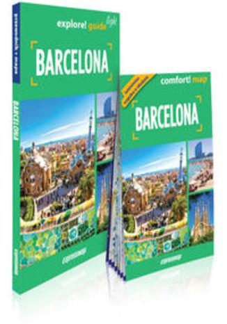 Okładka książki/ebooka Barcelona light przewodnik + mapa