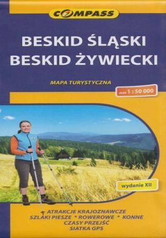 Okładka książki/ebooka Beskid Śląski i Żywiecki. Mapa Compass 1:50 000