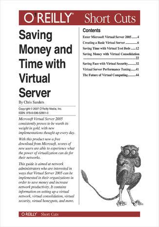 Okładka książki/ebooka Saving Money and Time with Virtual Server