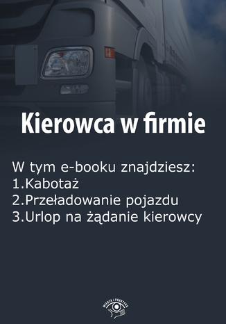 Okładka książki/ebooka Kierowca w firmie, wydanie grudzień 2015 r