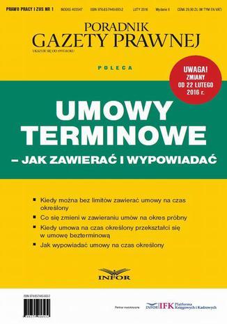 Okładka książki/ebooka Umowy terminowe  jak zawierać i wypowiadać