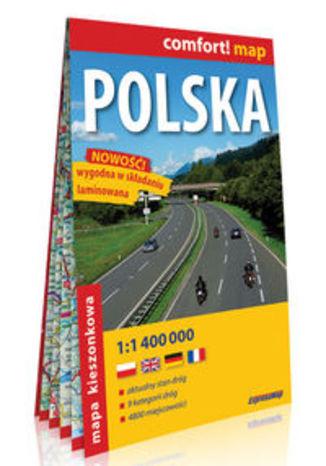 Okładka książki/ebooka Polska kieszonkowa mapa samochodowa 1:1 400 000