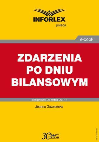 Okładka książki/ebooka ZDARZENIA PO DNIU BILANSOWYM