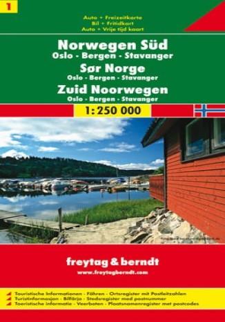 Okładka książki/ebooka Norwegia Południowa (cz.1). Mapa Freytag & Berndt 1:250 000