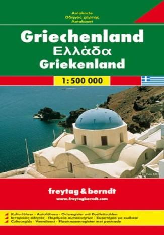 Okładka książki/ebooka Grecja. Mapa Freytag & Berndt 1:500 000