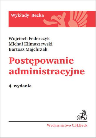 Okładka książki/ebooka Postępowanie administracyjne. Wydanie 4