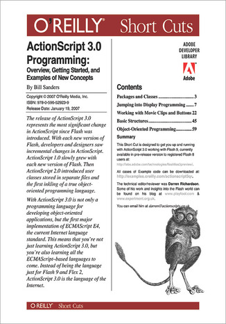 Okładka książki/ebooka ActionScript 3.0 Programming: Overview, Getting Started, and Examples of New Concepts
