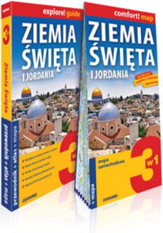Okładka książki/ebooka Ziemia Święta i Jordania 3w1: przewodnik + atlas + mapa. explore! guide