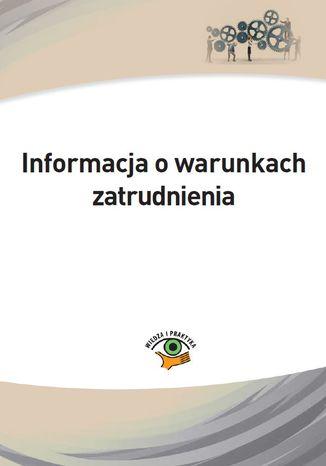 Okładka książki/ebooka Informacja o warunkach zatrudnienia