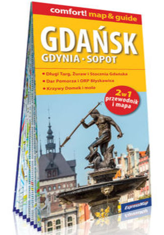 Okładka książki/ebooka Gdańsk Gdynia Sopot 2w1 przewodnik i mapa