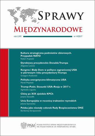Okładka książki/ebooka Sprawy Międzynarodowe 4/2017