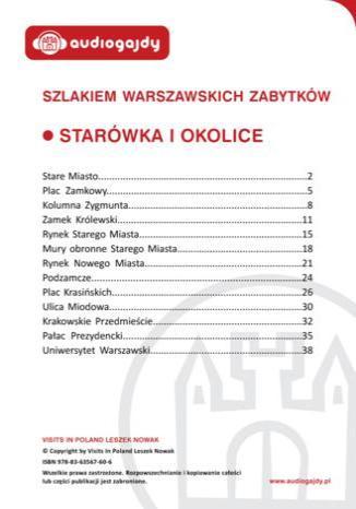 Okładka książki/ebooka Starówka i okolice. Szlakiem warszawskich zabytków