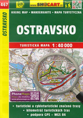 Okładka książki/ebooka Ostravsko (Ostrawa i okolice). Mapa Shocart / 1:40 000
