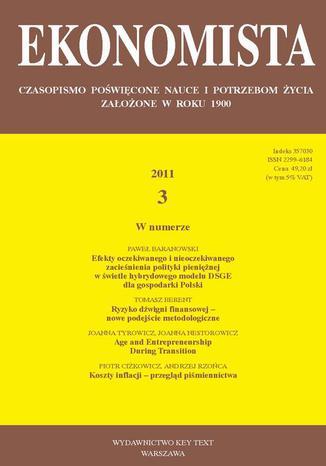 Okładka książki/ebooka Ekonomista 2011 nr 3