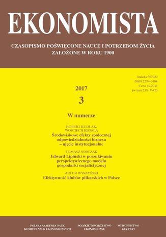 Okładka książki/ebooka Ekonomista 2017 nr 3