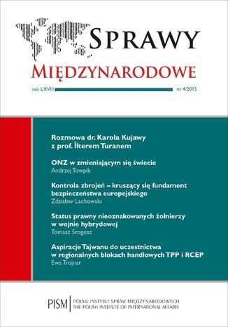 Okładka książki/ebooka Sprawy Międzynarodowe 4/2015