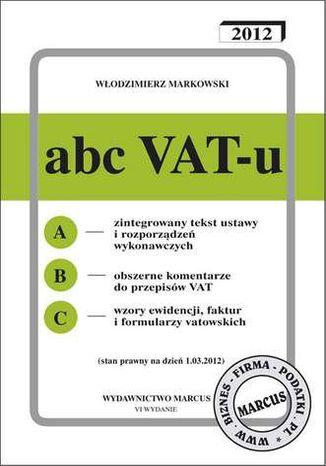 Okładka książki/ebooka ABC VAT-u 2012