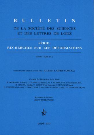 Okładka książki Bulletin de la Société des sciences et des lettres de Łódź, Série: Recherches sur les déformations  t. 63 z. 2