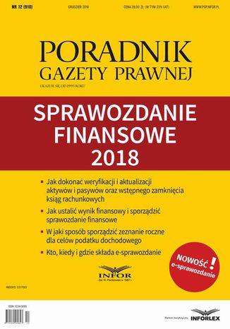 Okładka książki/ebooka Sprawozdanie finansowe 2018