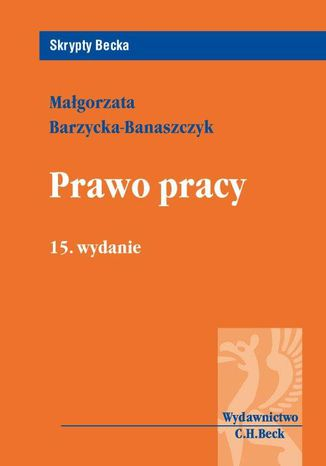 Okładka książki/ebooka Prawo pracy. Wydanie 15