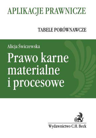 Okładka książki/ebooka Prawo karne materialne i procesowe