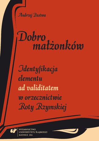 Okładka książki/ebooka Dobro małżonków. Identyfikacja elementu