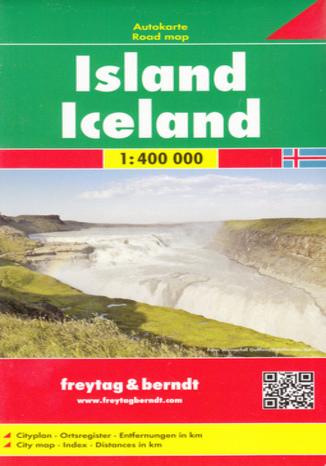 Okładka książki Islandia mapa 1:400 000 Freytag & Berndt