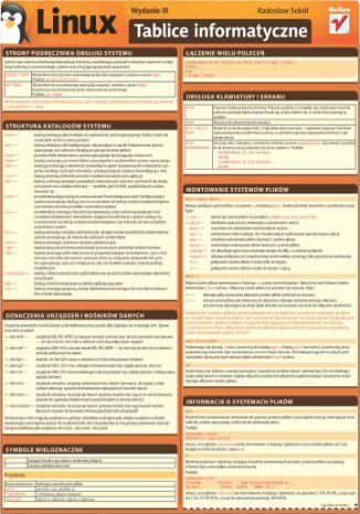 Okładka książki/ebooka Tablice informatyczne. Linux. Wydanie III