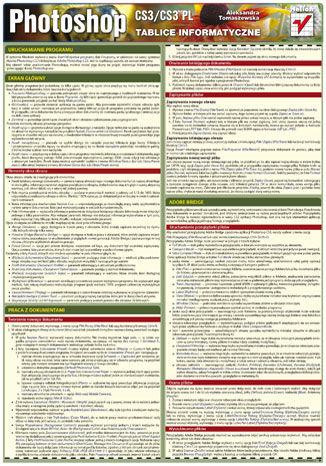 Okładka książki/ebooka Tablice informatyczne. Photoshop CS3/CS3 PL