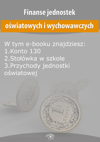 Okładka książki/ebooka Finanse jednostek oświatowych i wychowawczych, wydanie kwiecień 2016 r