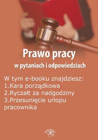 Okładka książki/ebooka Prawo pracy w pytaniach i odpowiedziach, wydanie styczeń-luty 2016 r