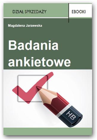 Okładka książki/ebooka Badania ankietowe