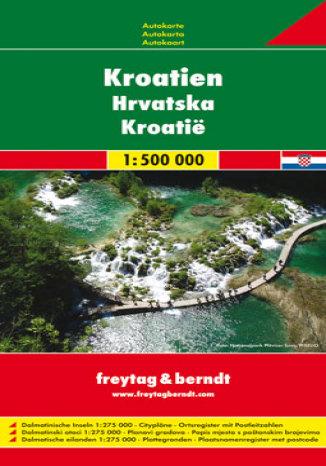 Okładka książki/ebooka Chorwacja. Mapa samochodowa