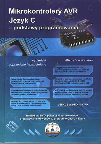 Okładka książki/ebooka Mikrokontrolery AVR. Język C - podstawy programowania.Wydanie II poprawione i uzupełnione
