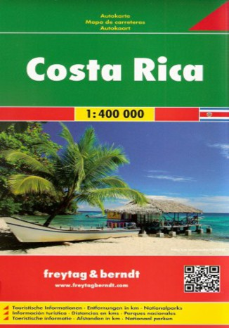 Okładka książki Kostaryka. Mapa Freytag & Berndt / 1:400 000