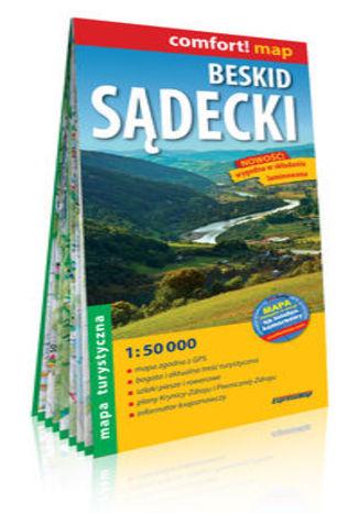Okładka książki/ebooka Beskid Sądecki laminowana mapa turystyczna 1:50 000