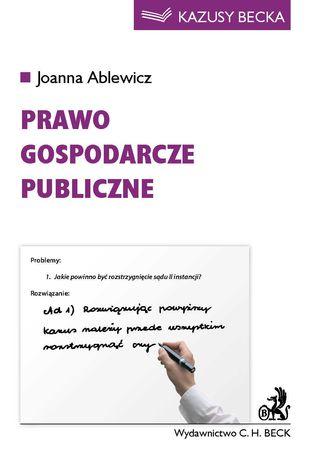 Okładka książki/ebooka Prawo gospodarcze publiczne