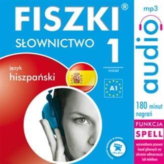 Okładka książki FISZKI audio  j. hiszpański  Słownictwo 1