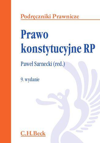 Okładka książki/ebooka Prawo konstytucyjne RP. Wydanie 9